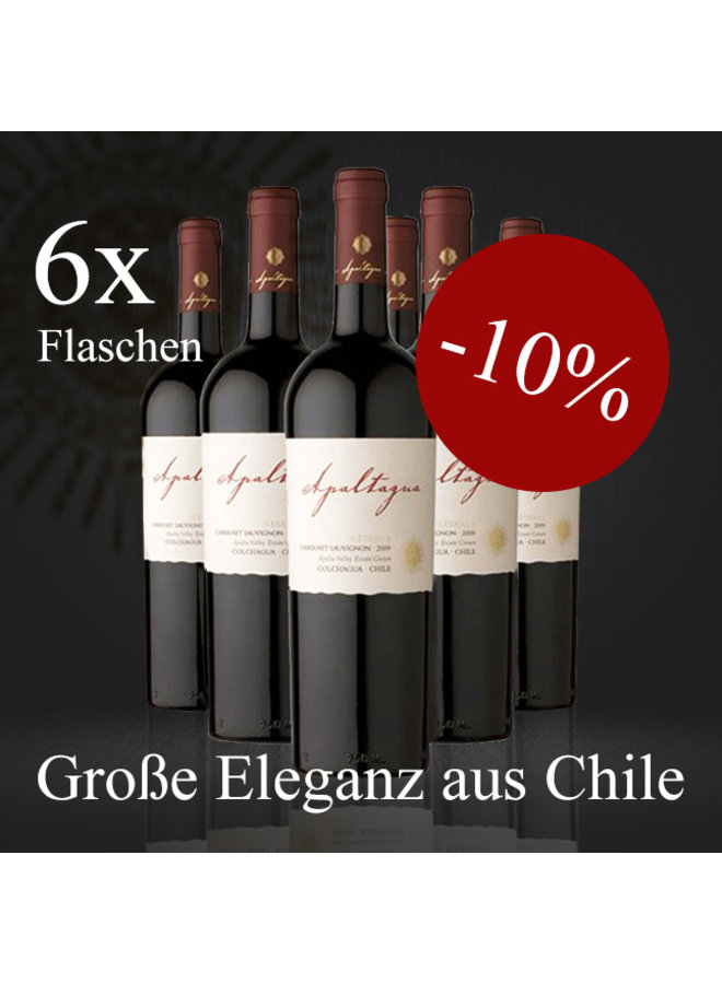 OFFER 6 BOTTLES - CABERNET SAUVIGNON RESERVA FROM CHILE - 2017