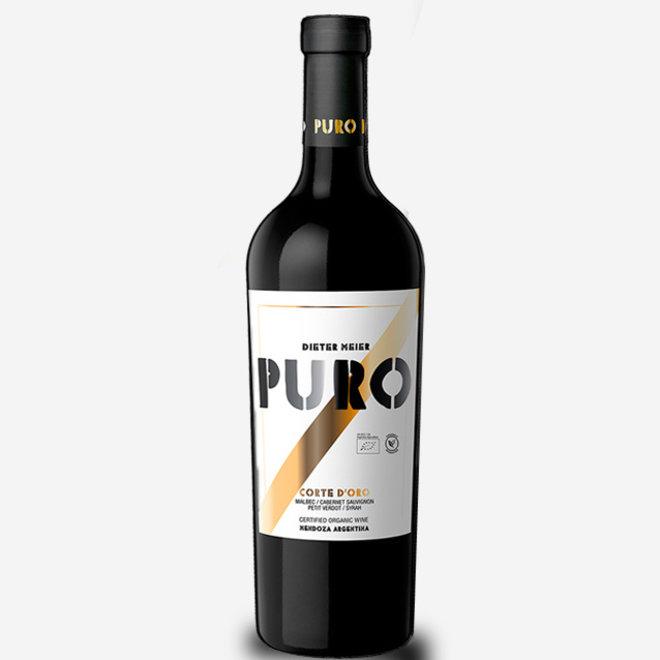 "PURO ""CORTE D´ORO"" 48% MALBEC, 29% CABERNET FRANC, 11% SYRAH, 10% PETIT VERDOT, 2% CABERNET SAUVIGNON - ARGENTINA 2014"