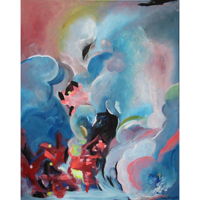 """""""DREAM OF HEAVEN"""" ACRILICO SOBRE LIENZO 80x100 cm"""