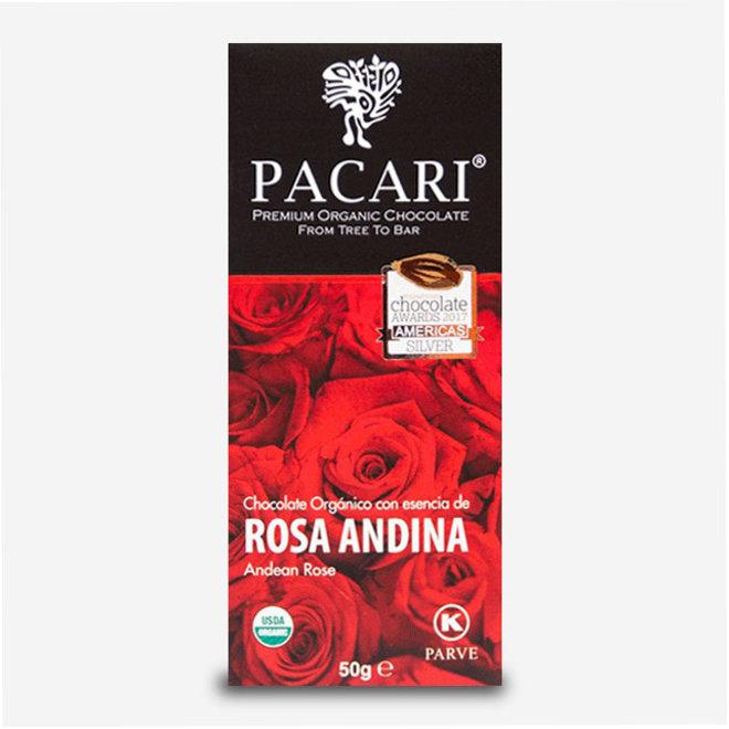 "ORGANIC RAW ""CHOCOLATE WITH ANDEAN ROSE"" - 60% COCOA - 50g  - ECUADOR"