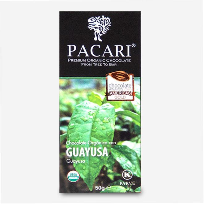 """CHOCOLATE """"ORGÁNICO CON GUAYUSA"""" - 60% CACAO - 50g - ECUADOR"""