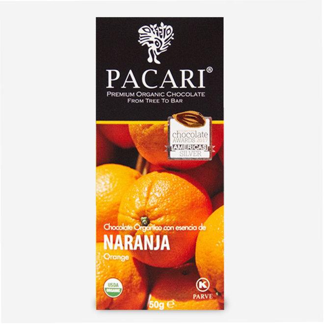"ORGANIC RAW ""CHOCOLATE WITH ORANGE"" - 60% COCOA - 50g  - ECUADOR"