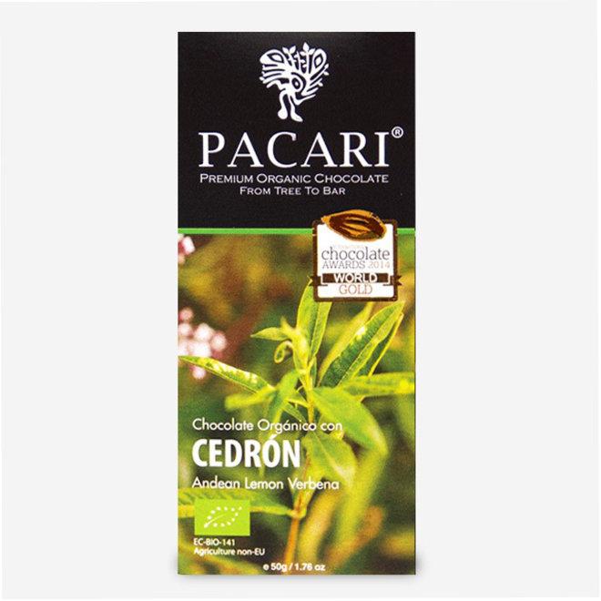 """CHOCOLATE """"ORGÁNICO CON CEDRÓN"""" - 60% CACAO - 50g - ECUADOR"""
