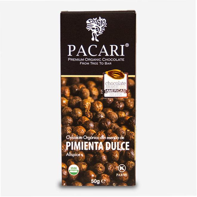"ORGANIC RAW ""CHOCOLATE WITH PEPPER"" - 60% COCOA - 50g  - ECUADOR"