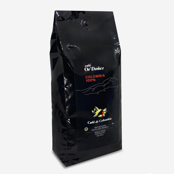 COFFEE 100% ARABICA, BEANS - 1Kg - COLOMBIA - UTZ CERTIFICATED
