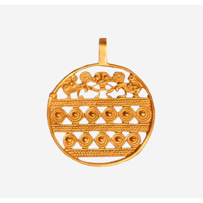 PENDANT GOLD PLATED 24ct - DJ1039 - COLOMBIA