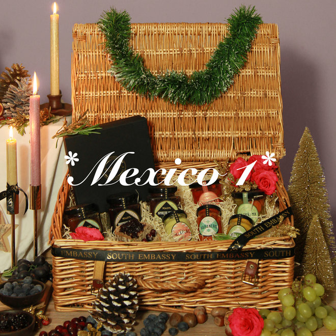 """GIFT BOX """"MEXICO 1"""" - SAUCES, FRUIT SPREAD & VEGETABLE MIX"""