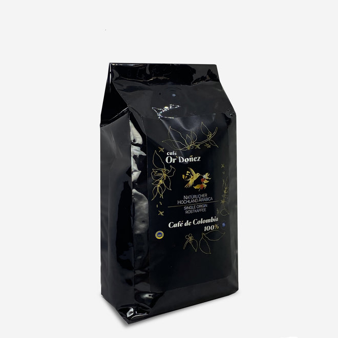 COFFEE 100% ARABICA, BEANS - 500g  - COLOMBIA  - UTZ CERTIFICATED