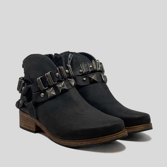 BOOTS 100% LEATHER HANDMADE FROM CHILE - BLACK