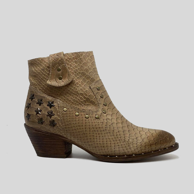 BOOTS 100% LEATHER HANDMADE FROM CHILE - BEIGE