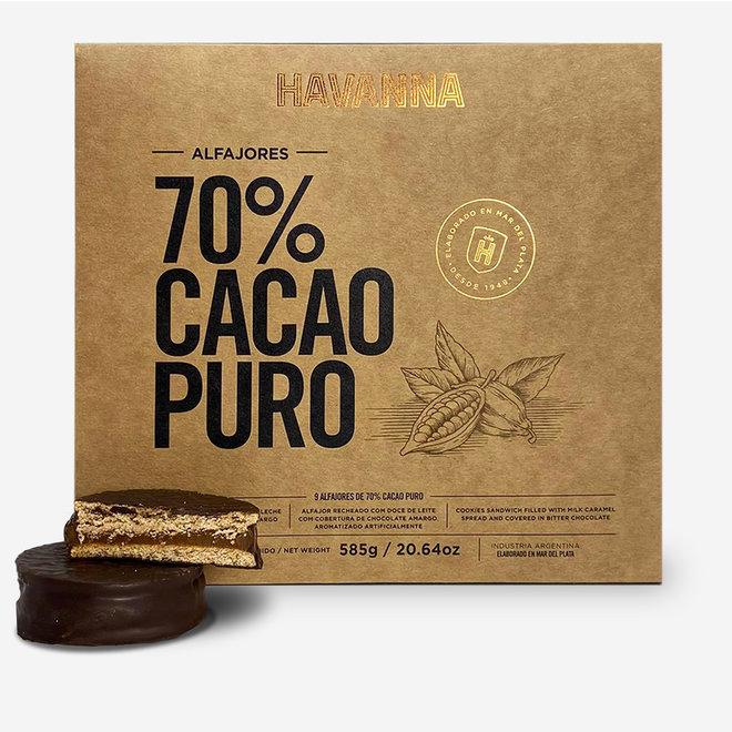 ALFAJORES -COCOA 70% - 9 - 585g -  ARGENTINA
