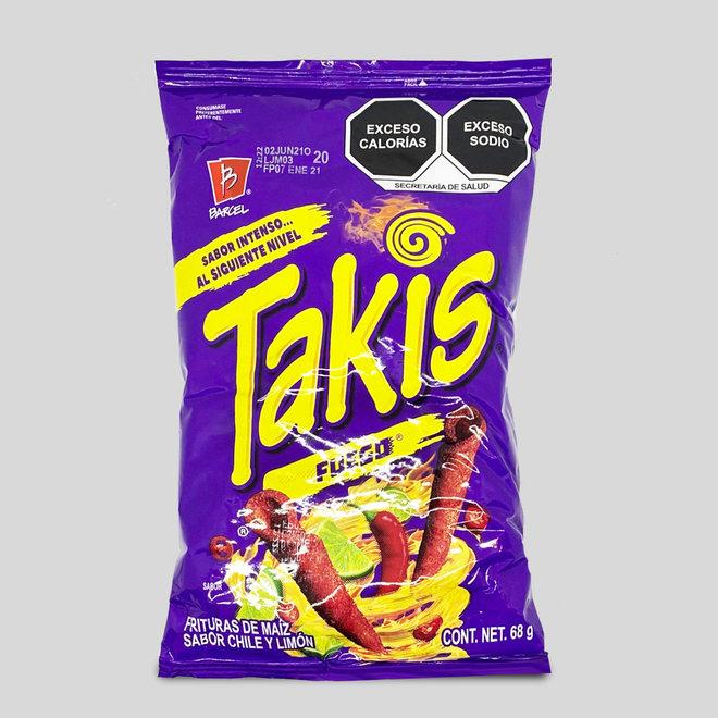 "TAKIS FUEGO SCHARF - ""HOT CHILI PEPPER & LIME FAVLOURED""- 68g - MEXIKO"