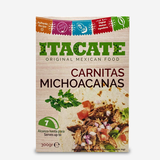 """COOKED PORK MEAT WITH SPICES """"CARNITAS MICHOACANAS"""" - TACO FILLING - 300g - MEXICO"""