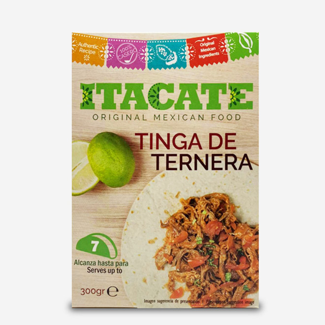 """VEAL WITH SPICES """"TINGA DE TERNERA""""- TACO FILLING - 300g - MEXICO"""