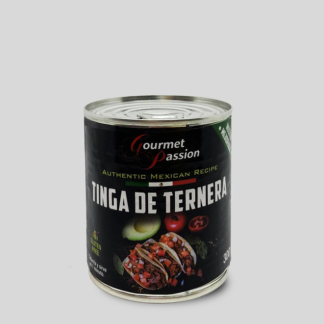 TINGA DE TERNERO - VEAL MEAT WITH SPICIES TACO FILLING - 300g - MEXIKO