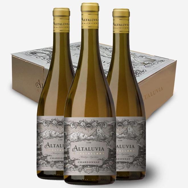 ALTALUVIA -  100% CHARDONNAY - 3 BOTTLE BOX - 2018 - ARGENTINA