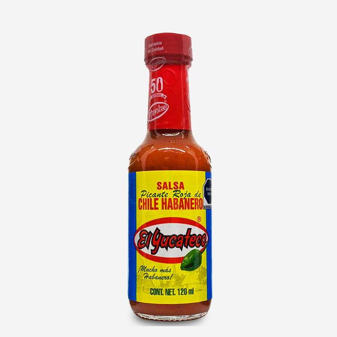ROTE SCHARFE HABANERO CHILI SAUCE - 120ml - MEXIKO