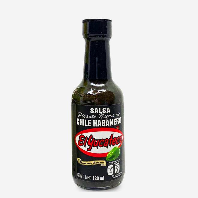 SALSA PICANTE DE CHILE HABANERO ROJO BLACK LABEL - 120ml - MÉXICO