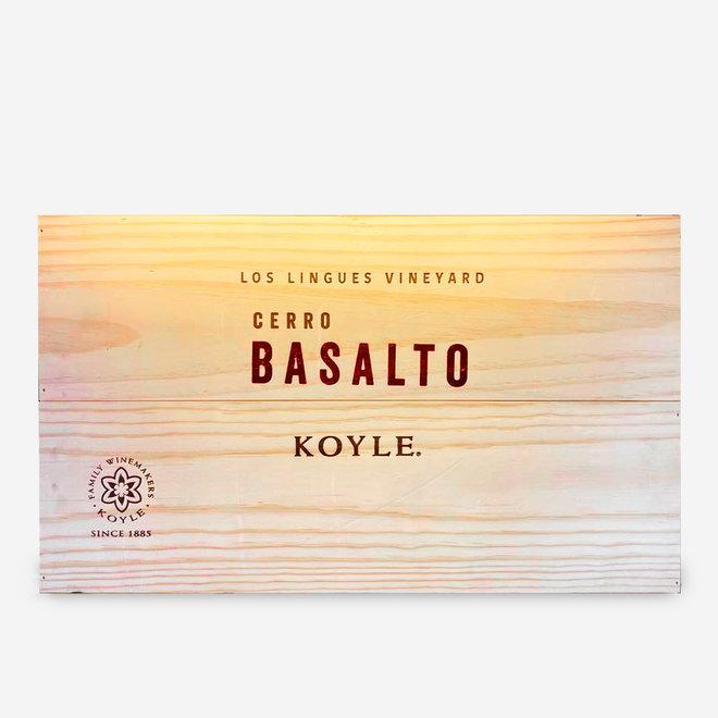 """BLEND """"BASALTO"""" - 0,75L - 2015 - CHILE - WOOD BOX 6 BOTTLES"""