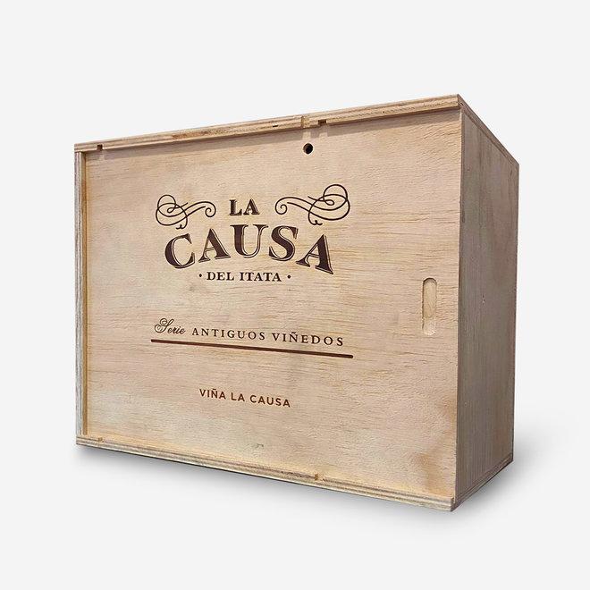 LA CAUSA - BLEND  CINSAULT/PAIS/CARIGNAN - 0,75L - 2014 - CHILE - WOOD BOX 6 BOTTLES