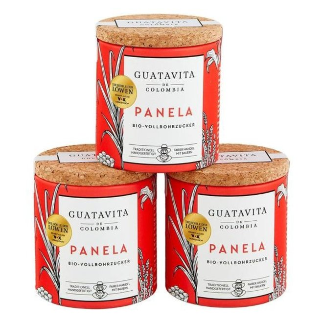 PANELA RAW SUGAR - CAN (3x 125g) COLOMBIA