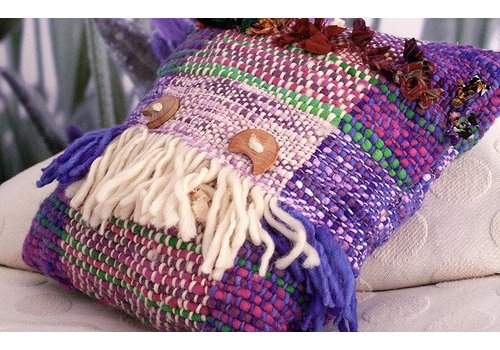 IVETTE SAUTEREL Hand weaven Pillow, 100% Wool, Ivette Sauterel Collection