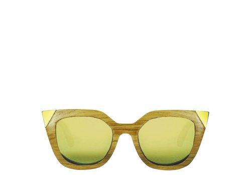 FLOR AMAZONA Gafas de Sol de madera Flor Amazona Gold