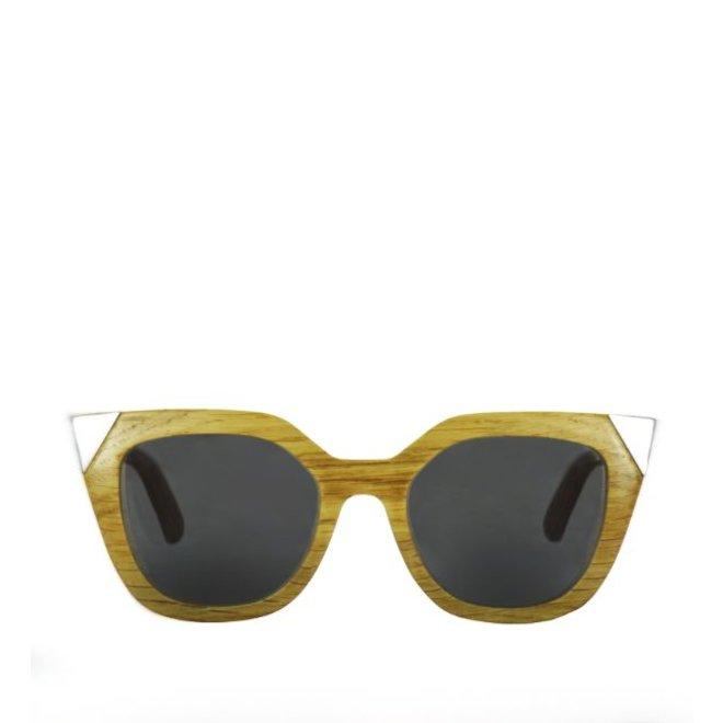 Wood Sunglasses Flor Amazona Silver