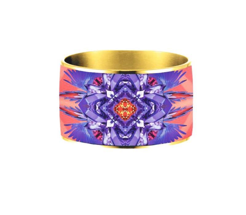 Armband Flor Amazona, Ruby Love vergoldet 24 Kt
