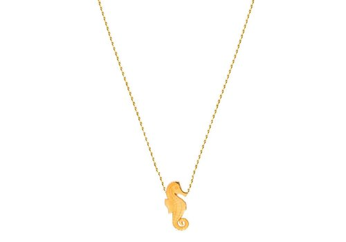 FLOR AMAZONA Collar Flor Amazona, Seahorse Gold