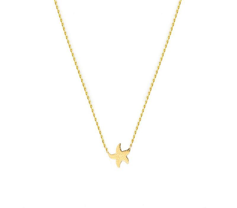 Necklace Flor Amazona, Sea Star Gold