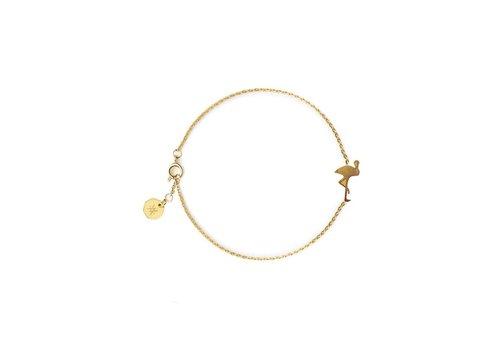 FLOR AMAZONA Bracelet Flor Amazona, Flamingo Gold