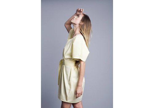 VOLVER Dress, 100% Cotton, Yellow, handmade, Volver - Copy