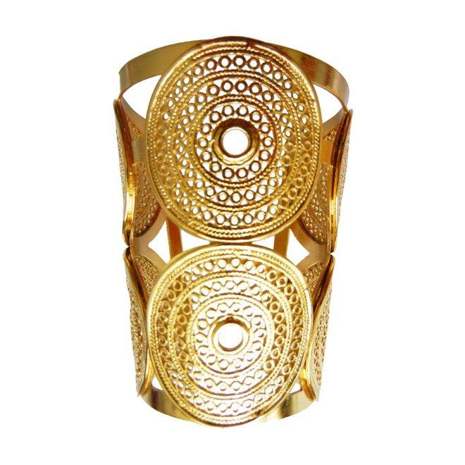 CUFF GRECA - GOLD PLATED 24 Kt