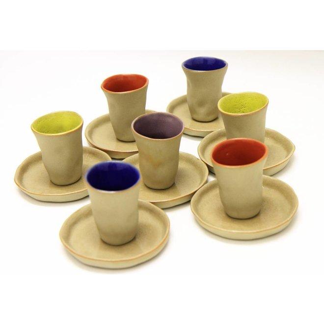 """Taza con plato Espresso, cerámica """"Favella Collection"""""""