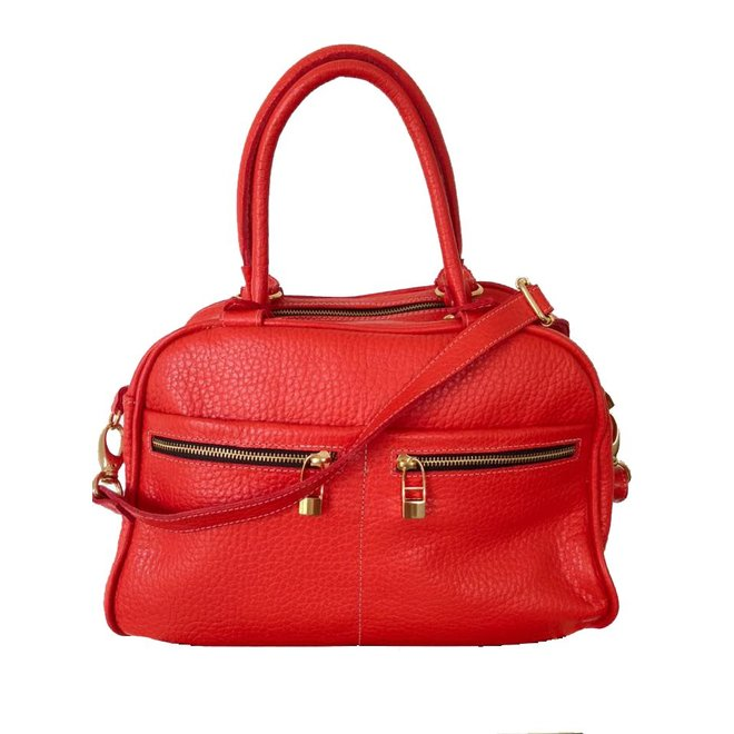 Leather bag, Red