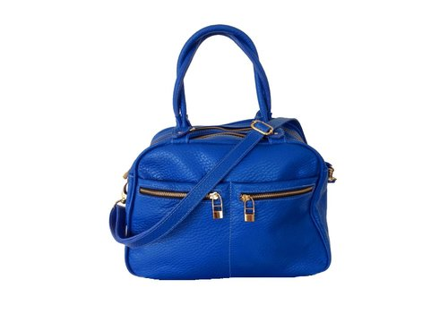 FLAVIO DOLCE Leather bag, Blue, Flavio Dolce