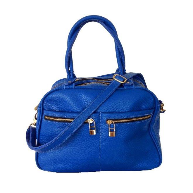 Leather bag, Blue