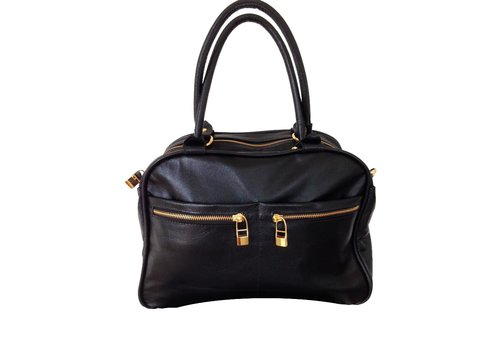 FLAVIO DOLCE Leather bag, Black, Flavio Dolce