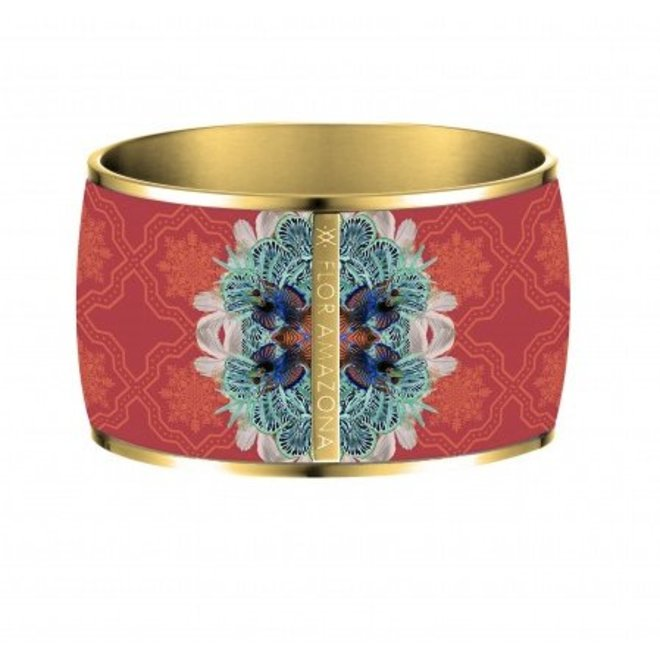 "ENAMEL BANGLE ""PACIFIC PARADOX"" - GOLD PLATED 24 Ct"