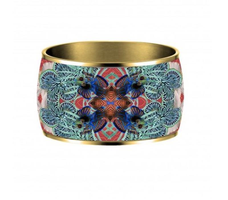 Armband Flor Amazona, Pacific paradox, vergoldet 24 Kt