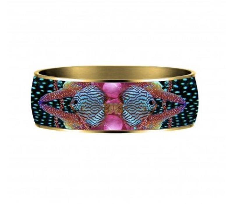Armband Flor Amazona, Atlantic Manta, vergoldet 24 Kt, 2,5cm
