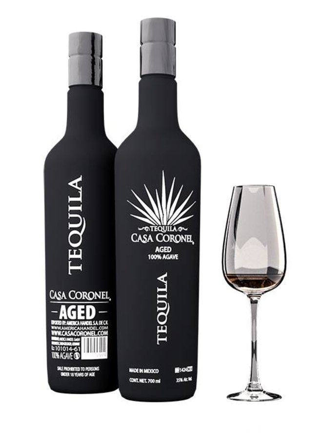 """TEQUILA """"AGED"""" 100% AGAVE, MEXIKO"""
