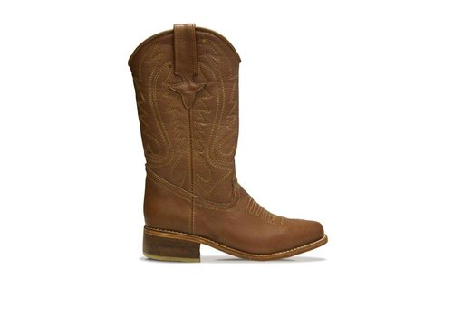"BASTO COWBOY BOOTS ""WHISKY"", 100% LEATHER FROM URUGUAY - BROWN"