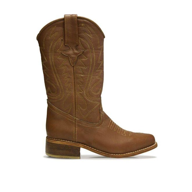 "COWBOY BOOTS ""WHISKY"", 100% LEATHER FROM URUGUAY - BROWN"