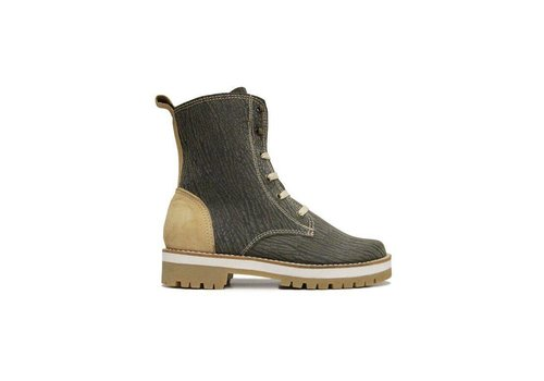 MATICES ANKLE BOOTS 100% LEATHER FROM URUGUAY - AMAZONA BEIGE