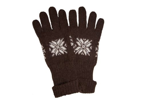 Apu Kuntur GLOVES 100% Alpaca Wool Superfine, Brown