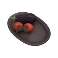 Plate, Ceramic Pomaire Brown, 32x21cm