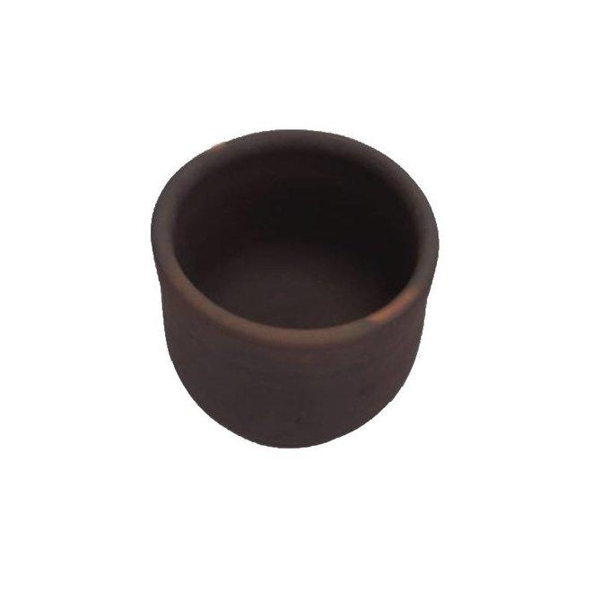 Maceta de cerámica Pomaire café