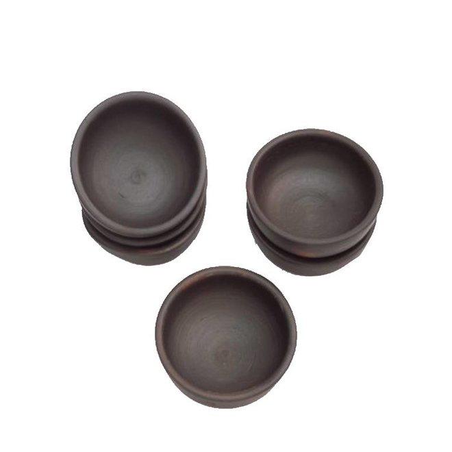 Bowl, Ceramic Pomaire Brown, S 9,5 cm
